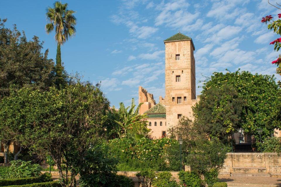 Les jardins andalous de la kasbah, La Kasbah des Oudayas, Les arts et la culture, Rabat, Maroc-le Centre