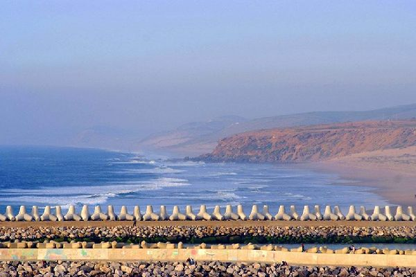 The Rharb plain , Meditation on the seafront , Morocco
