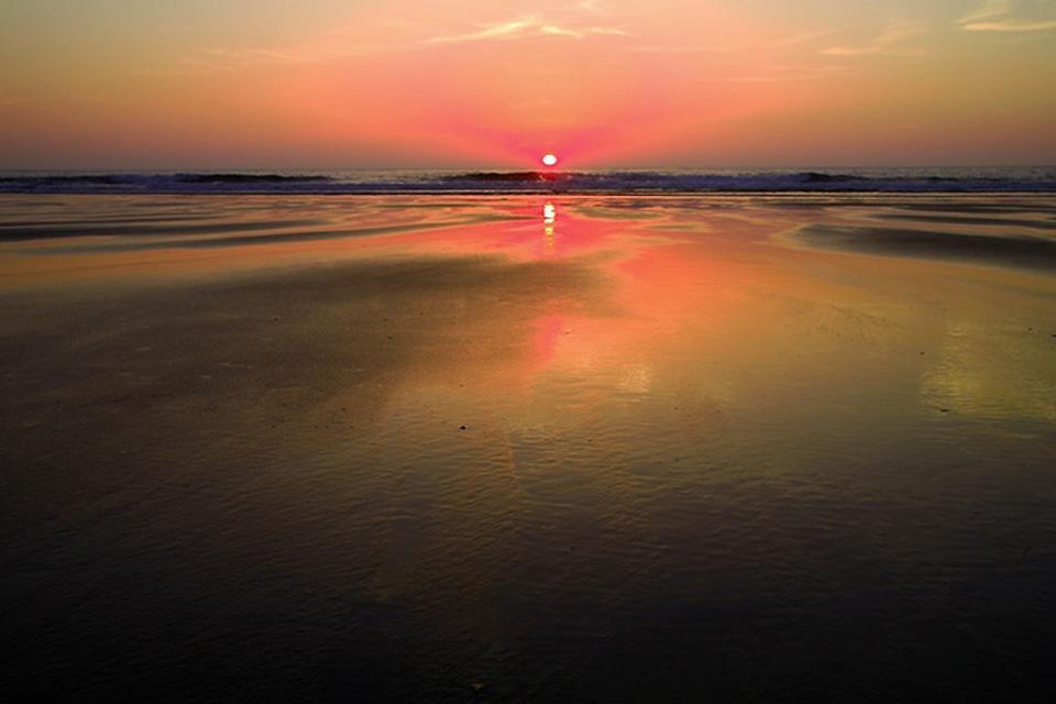 La plaine du Rharb , Et le soleil se coucha sur l'Atlantique , Maroc