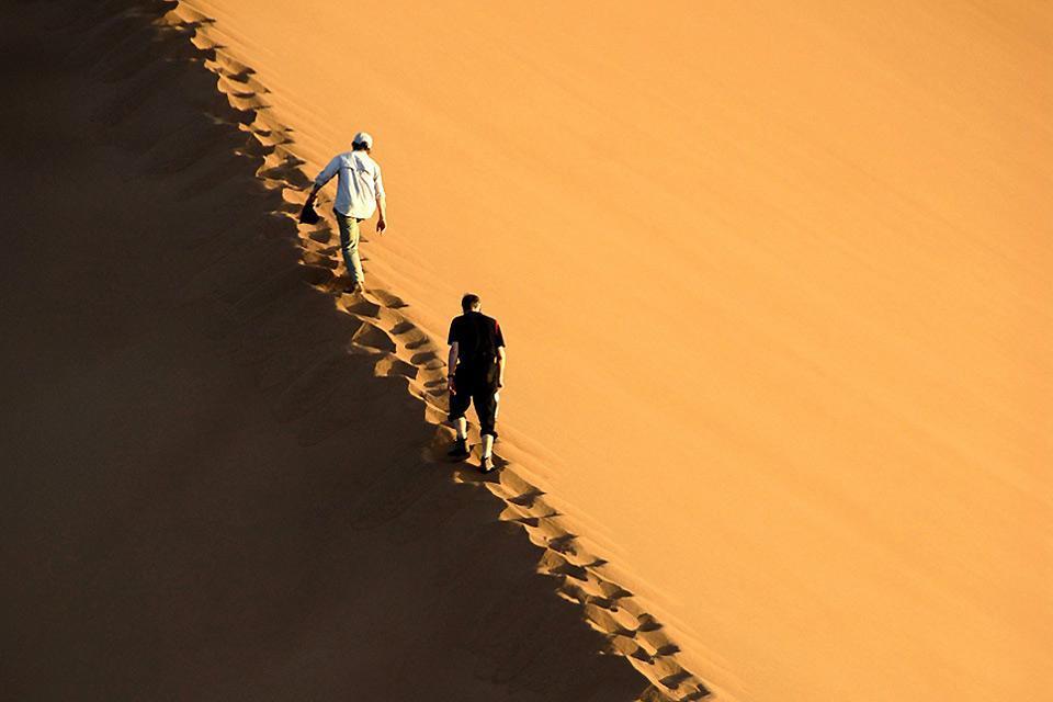 El Sahara , Las dunas del Sahara , Marruecos