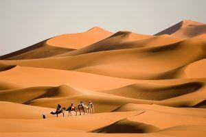 Trek dans le désert , Maroc
