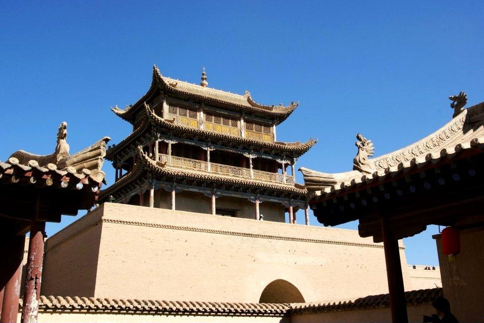 La Gran Muralla china en Jiayuguan , China