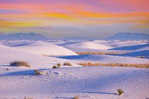 Le Monument national de sables blancs , Etats-Unis