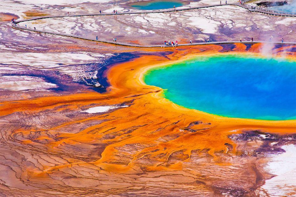 Il parco nazionale di Yellowstone , Stati Uniti
