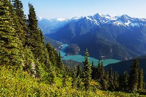 Le parc national des North Cascades , Etats-Unis