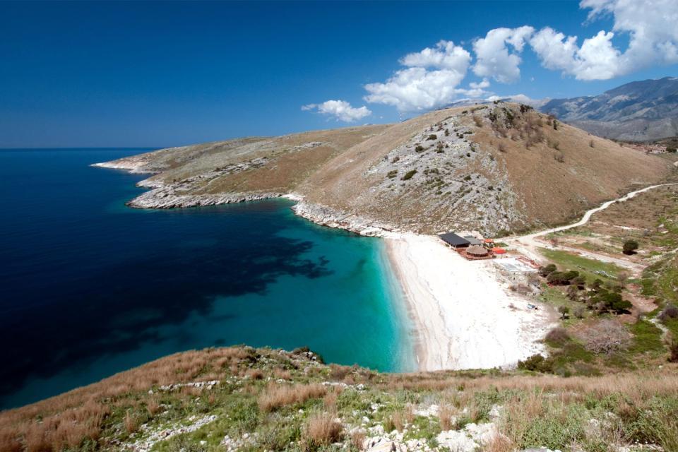 La costa adriática , Albania