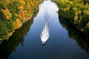 Le fleuve Connecticut , Etats-Unis