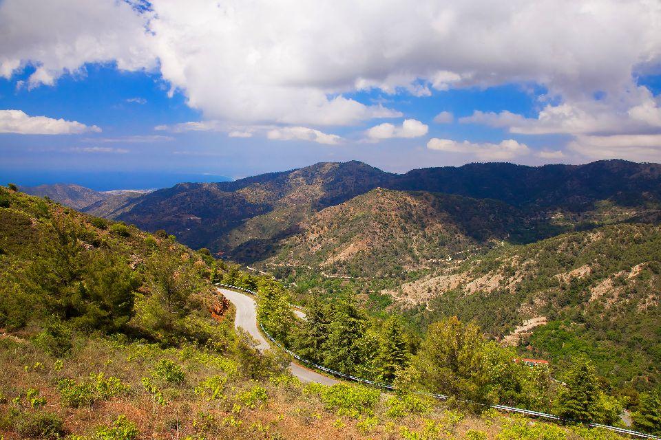 La chaîne des Troodos , Randonnée dans les Troodos , Chypre