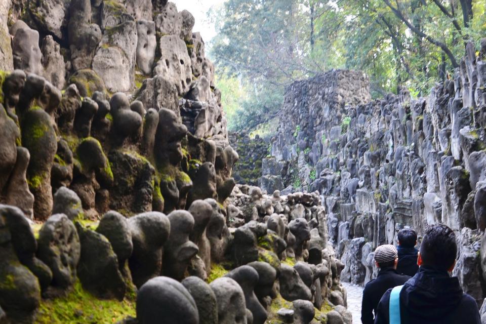 Il giardino di pietre di chandigarh india del nord india