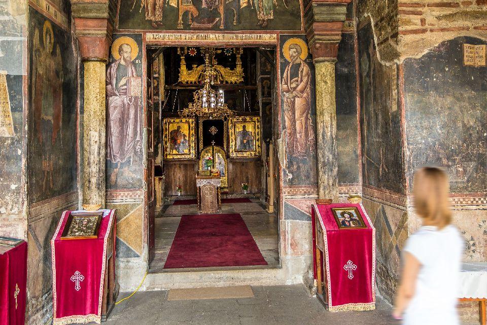Das Kloster von Gra?anica , Kosovo