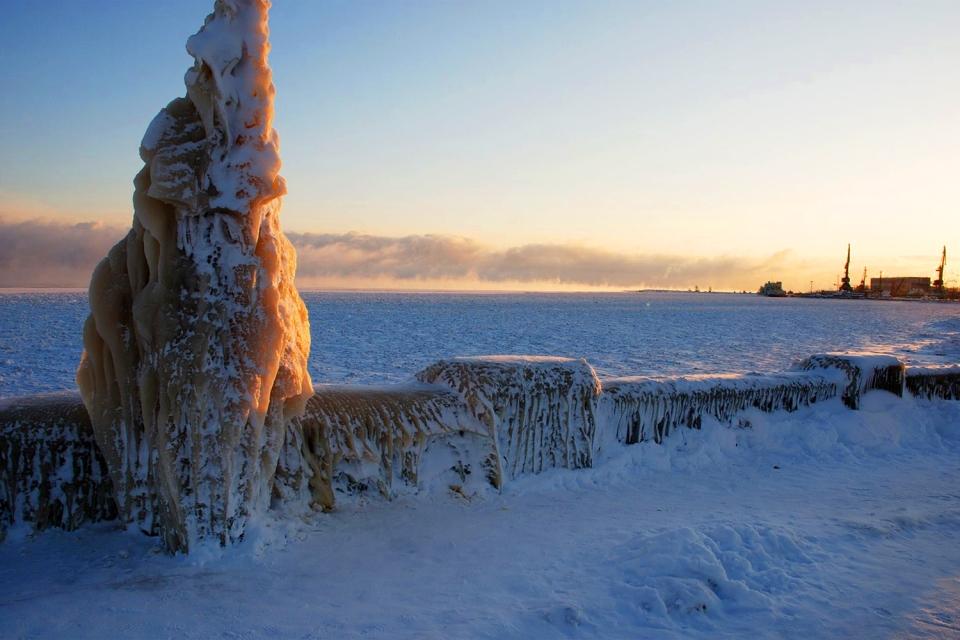 Gel, Le lac Onega, Les paysages, Le nord de la Russie