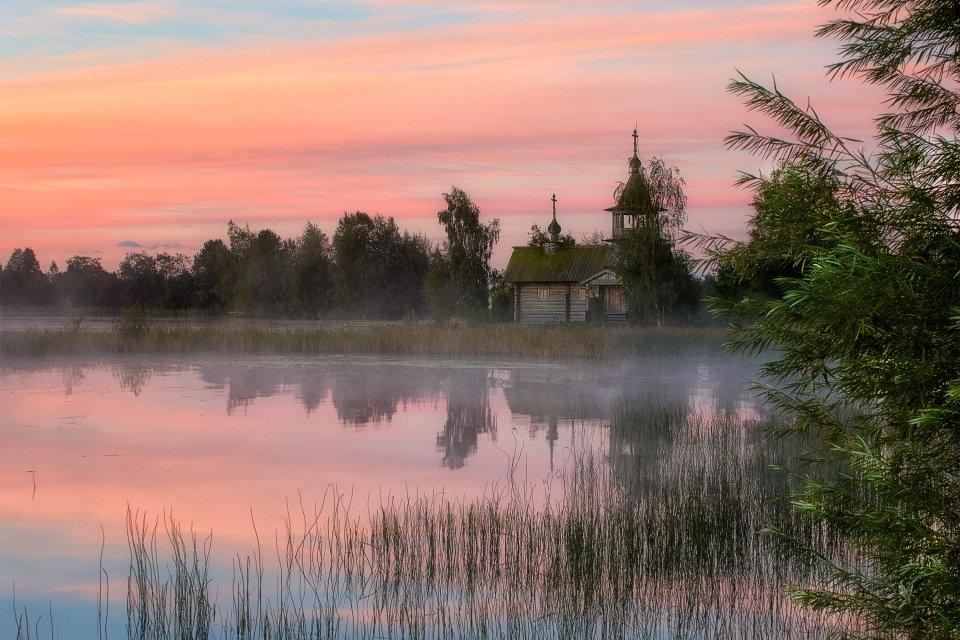 Les paysages, eglov, kizhi, île, onega, russie, lac, kiji, volga, Carélie, église, orthodoxe