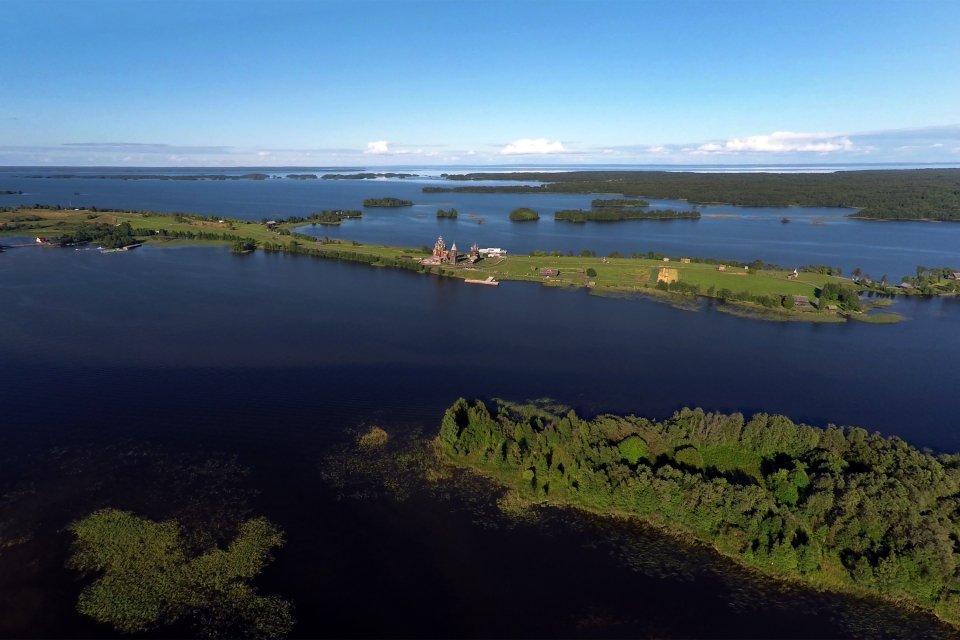 Les paysages, kizhi, île, onega, russie, lac, kiji, volga, église