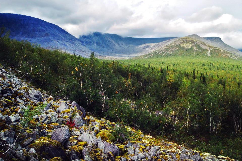 Lo sci sui Monti Khibiny , Russia