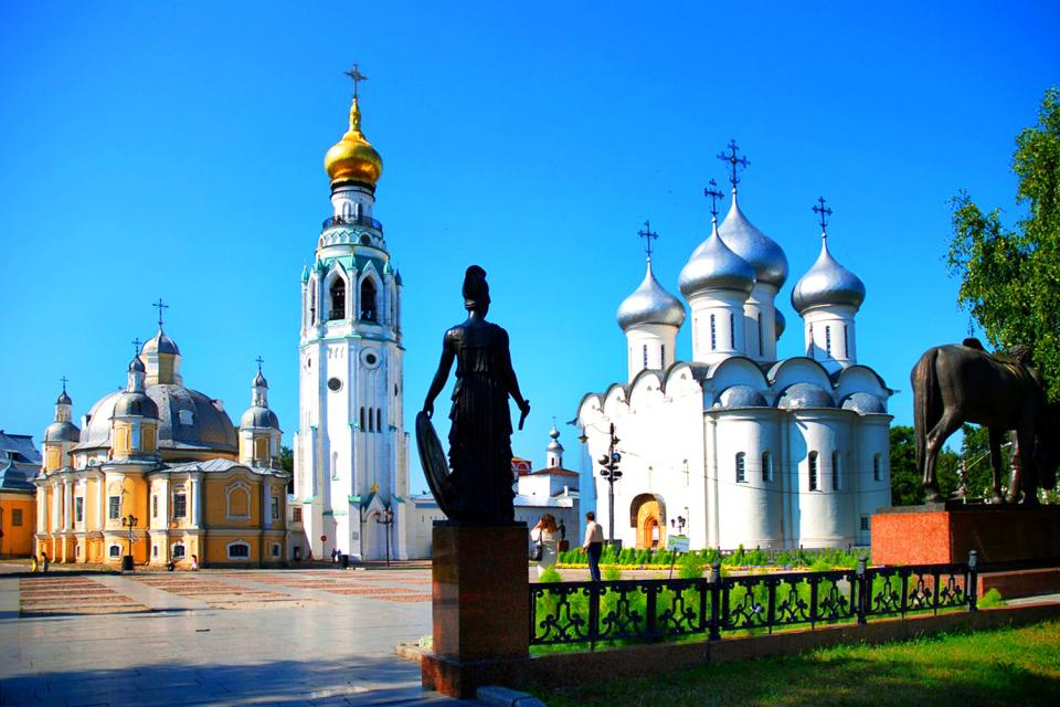 Die Kreml-Anlage von Vologda , Russland