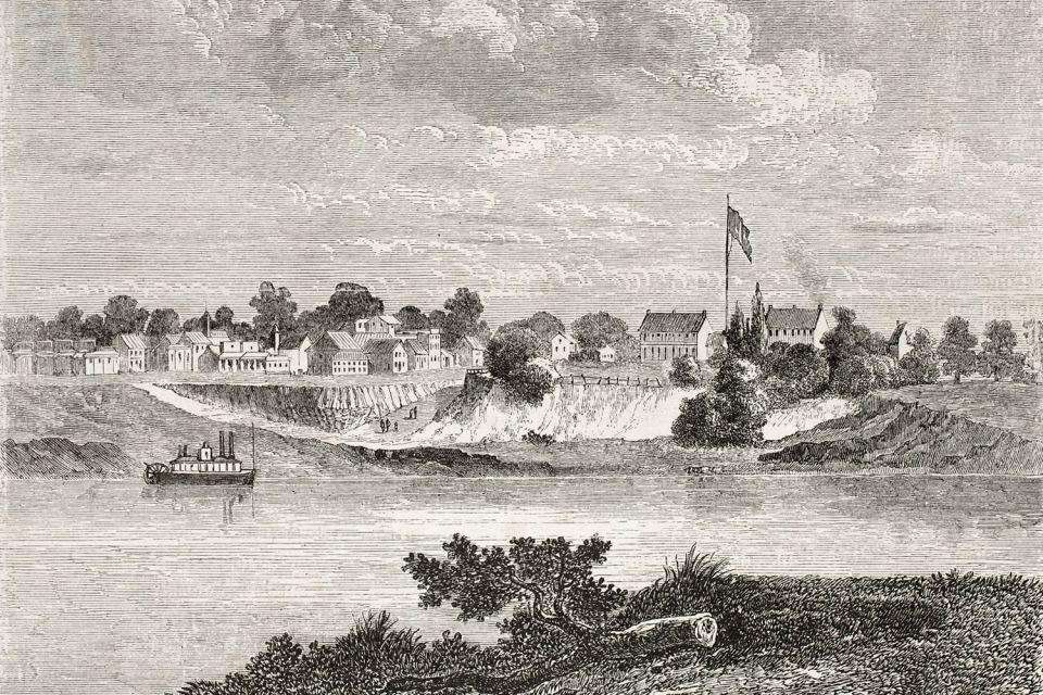 , El sitio histórico nacional de Fort Smith, Los parajes, El Sur de Estados-Unidos