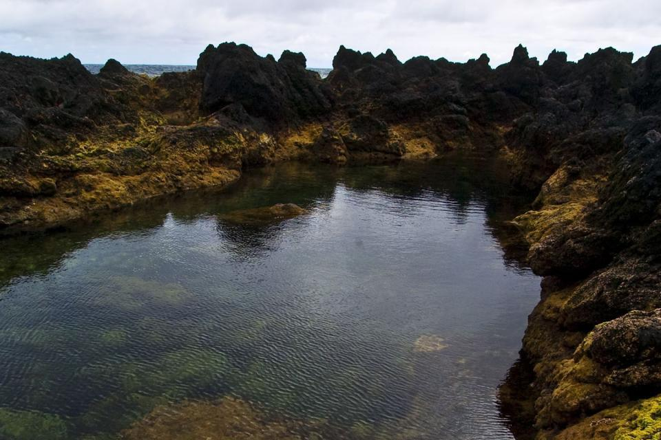 las piscinas naturales de biscoitos en terceira azores