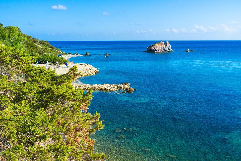 The west coast , Hotels around Aphrodite's Rock , Cyprus