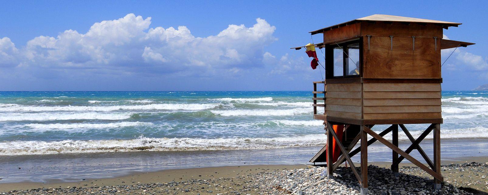 La baie d'Akrotiri , Les plages de la baie d'Akrotiri , Chypre
