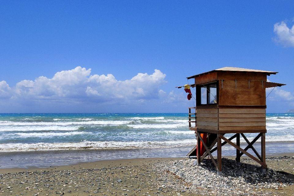 Akrotiri Bay , The beaches on the Bay of Akrotiri , Cyprus