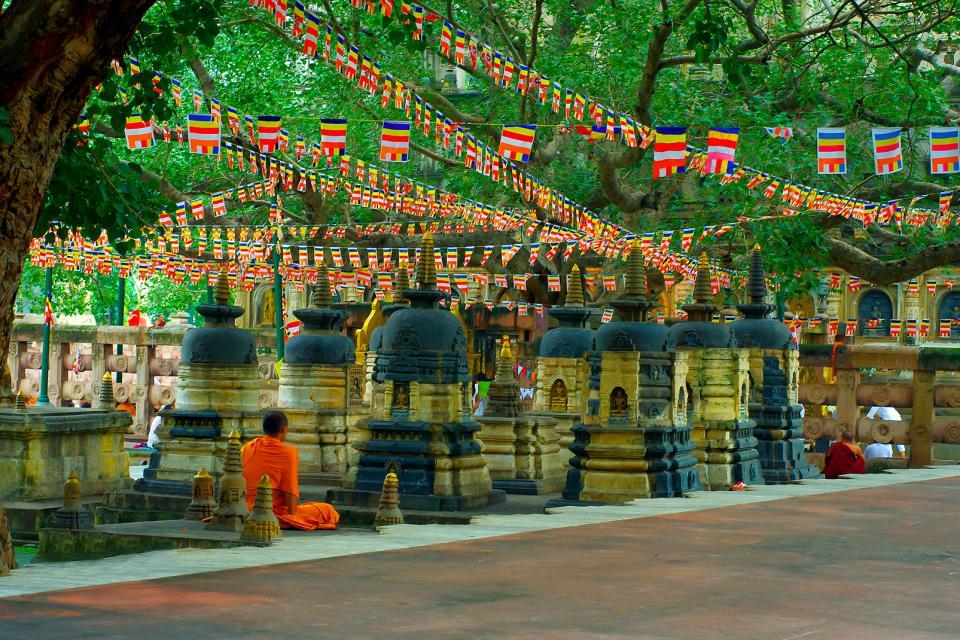 El templo de Mahabodhi en Bodhgaya, Bihar , India