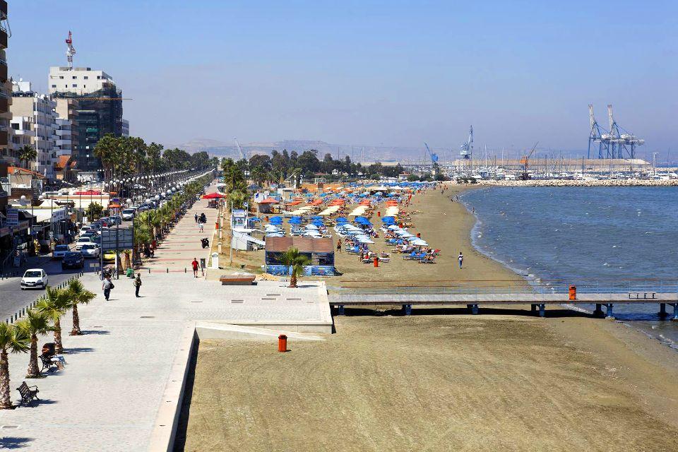 Larnaca Bay , Larnaca's beach , Cyprus