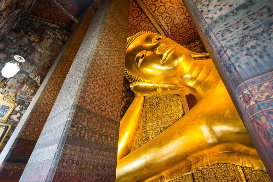 Il Buddha disteso , Bangkok , Thailandia