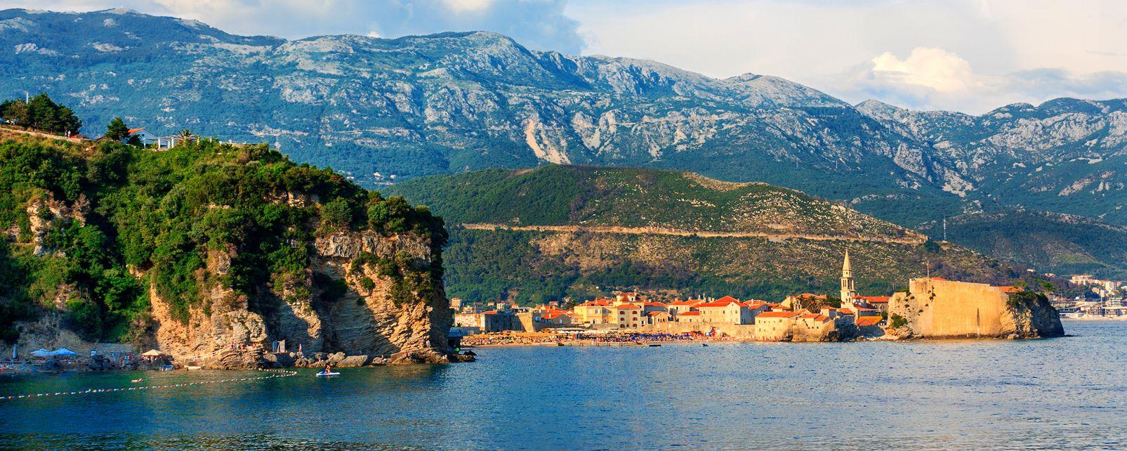 La côte Adriatique , Montenegro