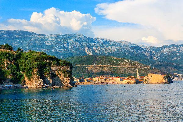 La côte Adriatique , Budva , Monténégro