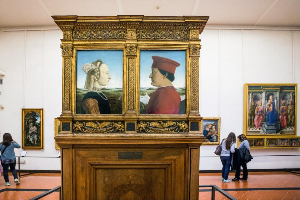 Gli Uffizi , Firenze , Italia