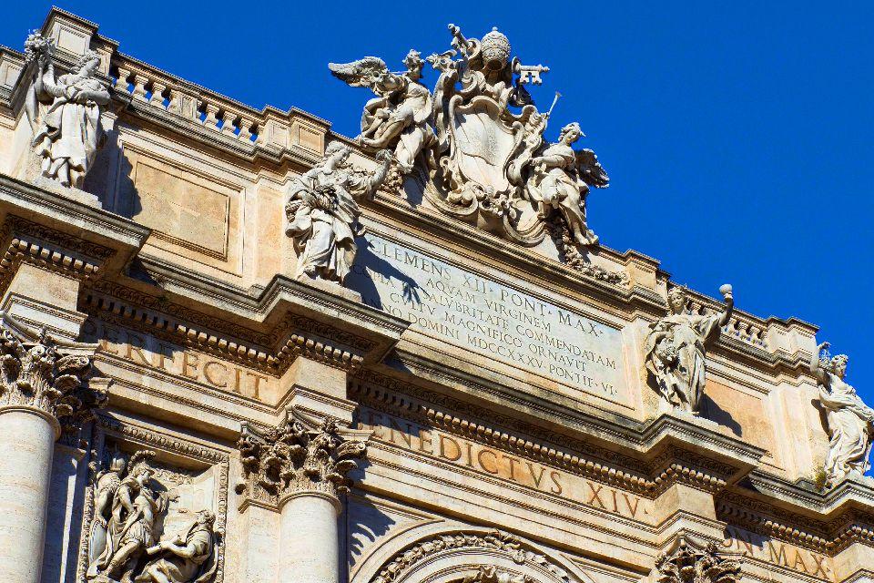 La Fontaine de Trevi , Entre sculpture et architecture , Italie