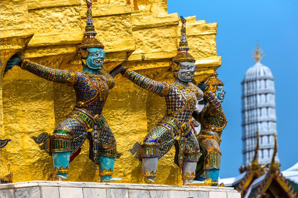 Wat Phra Kaew , Bangkok , Thailandia