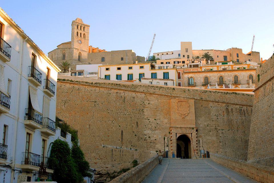 La citadelle d'Eivissa, capitale d'Ibiza , Espagne