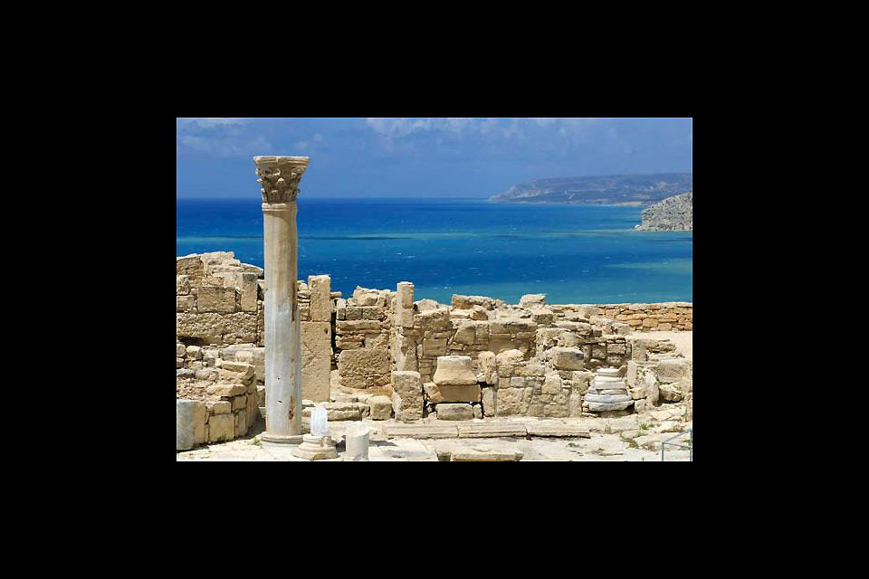 The archaeological site of Kourion , The ancient site of Kourion , Cyprus