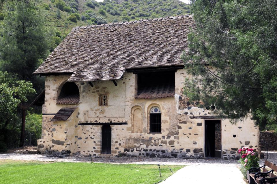 The churches in the Troodos mountains , The church of St. Nikolas , Cyprus