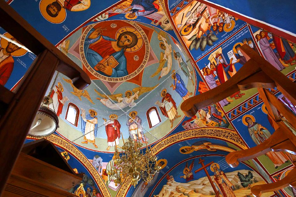 The Kykko monastery , The chapel at the entrance of Stavovrouni , Cyprus