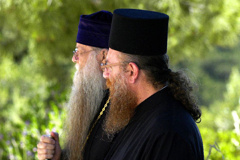 The Kykko monastery , The orthodox monks of Ayios Neophytos , Cyprus