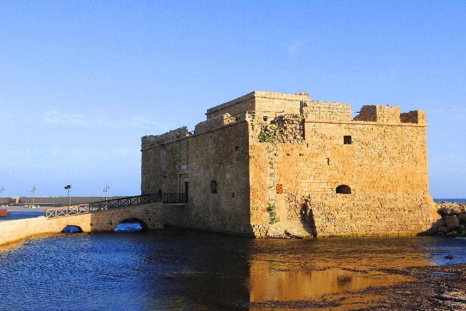 The Medieval Fort of Pafos , A fort at the harbor entrance , Cyprus