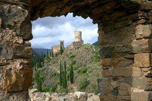 Le château de Lastours , France