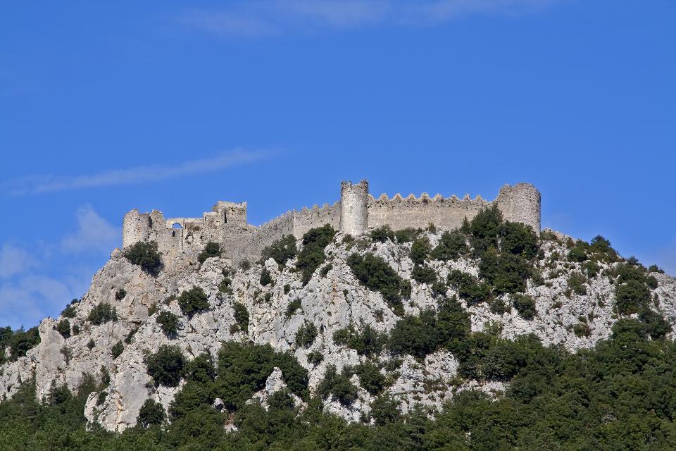Le château de Puilaurens , Francia