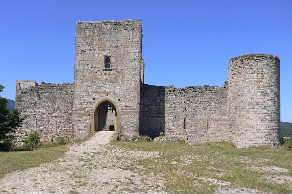 Le château de Puivert , Francia