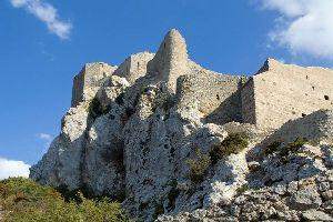 Le château de Quéribus , France