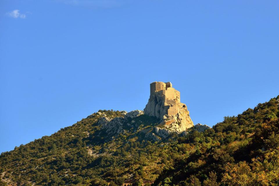 Le château de Quéribus , Francia