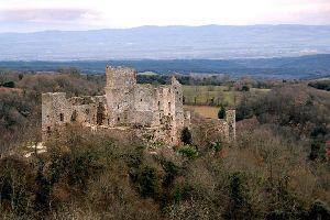 Le château de Saissac , France