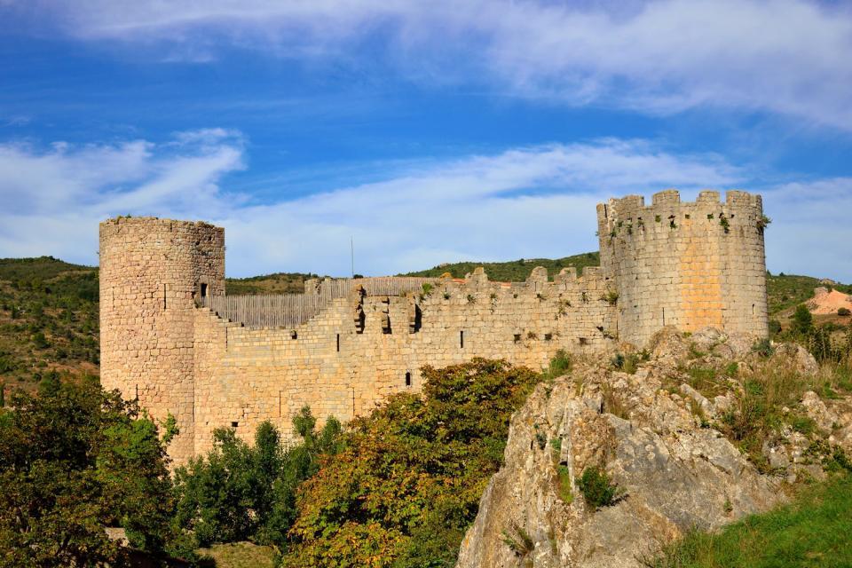 Le château de Villerouge , Francia