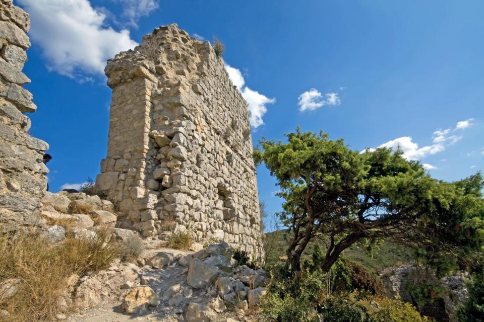 Le château d'Aguilar , Francia