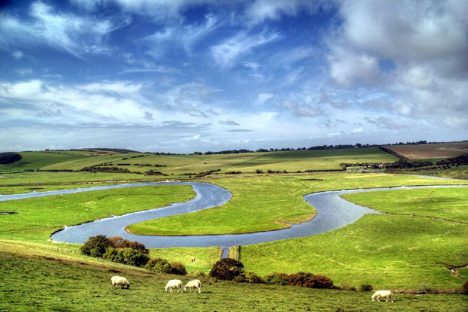 Cuckmere Valley, South Downs , Royaume-Uni