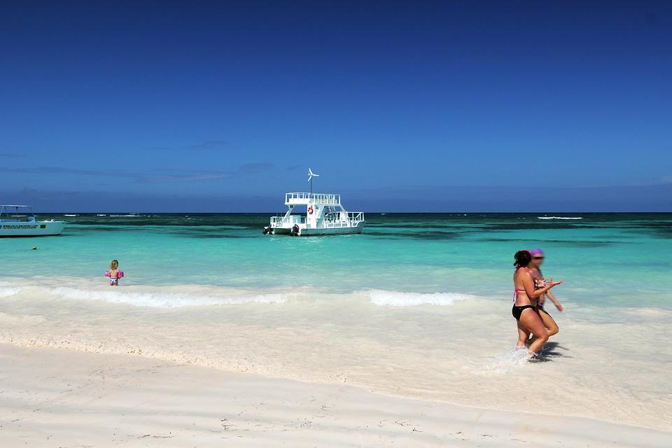 La plage d'Arena Gorda à Punta Cana , République dominicaine