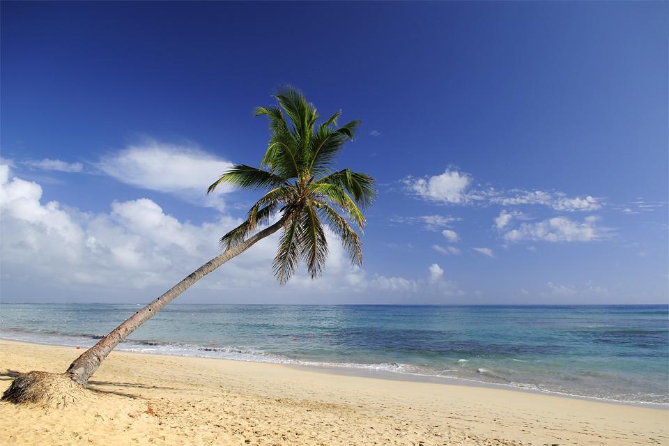 La plage d'Uvero Alto , République dominicaine