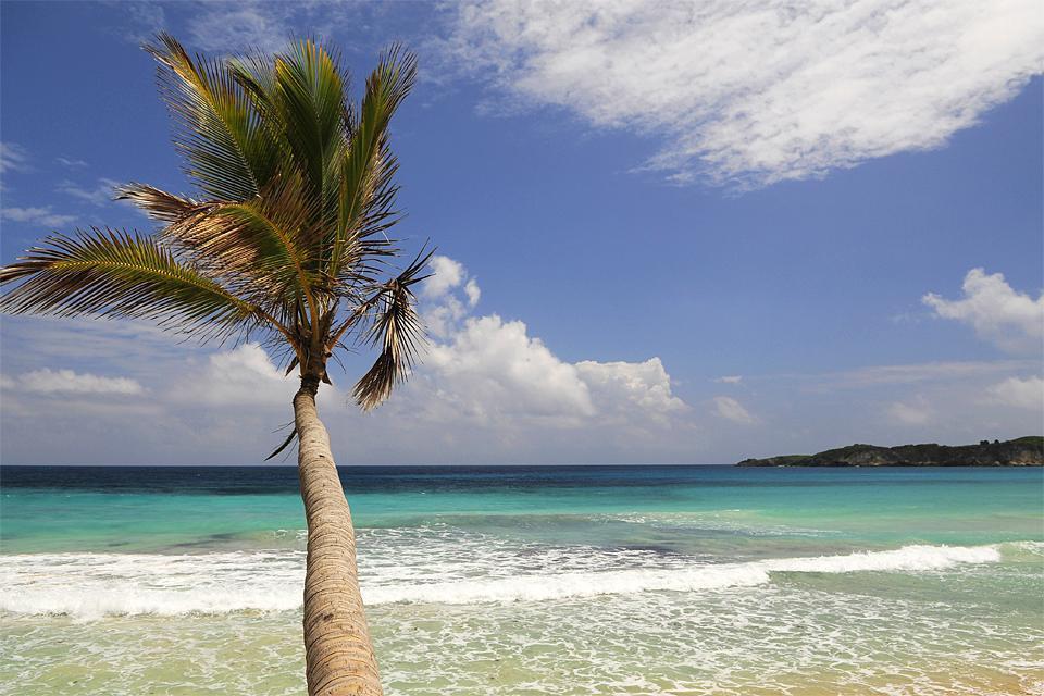 La plage de Macao , République dominicaine